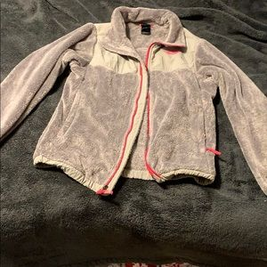 Girls North Face fluffy jacket. Perfect condition.